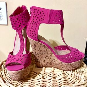 Pink Cork Wedges New